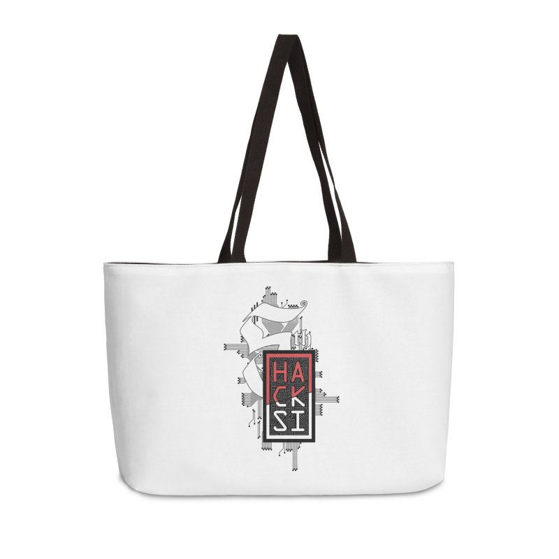 Dark Color 2017 Logo Accessories Weekender Bag Bag by The HackSI Shop