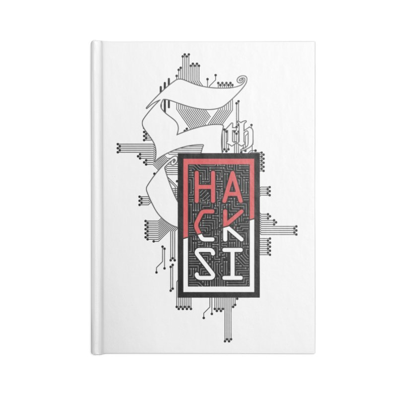 Dark Color 2017 Logo Accessories Lined Journal Notebook by The HackSI Shop