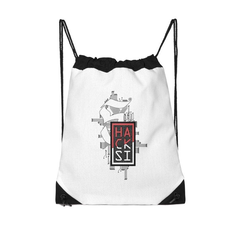 Dark Color 2017 Logo Accessories Drawstring Bag Bag by The HackSI Shop