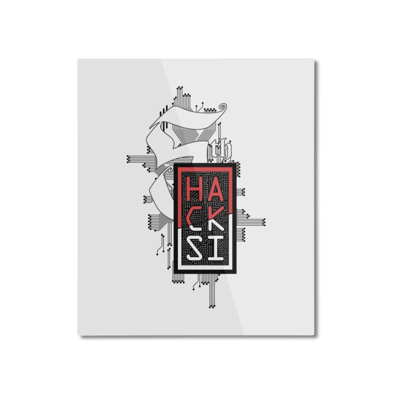 Dark Color 2017 Logo Home Mounted Aluminum Print by The HackSI Shop