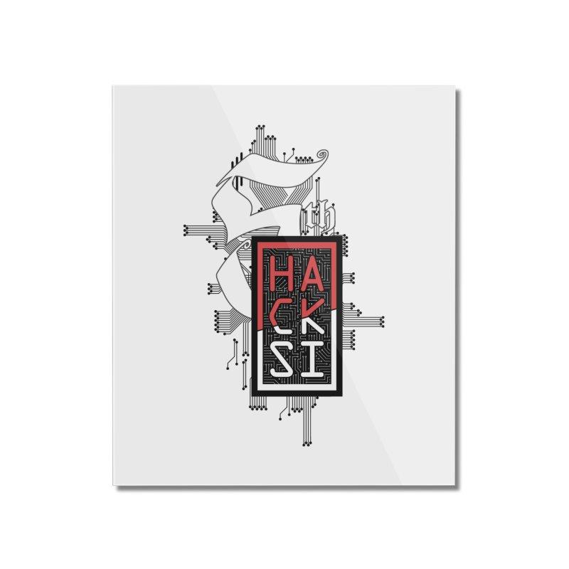 Dark Color 2017 Logo Home Mounted Acrylic Print by The HackSI Shop
