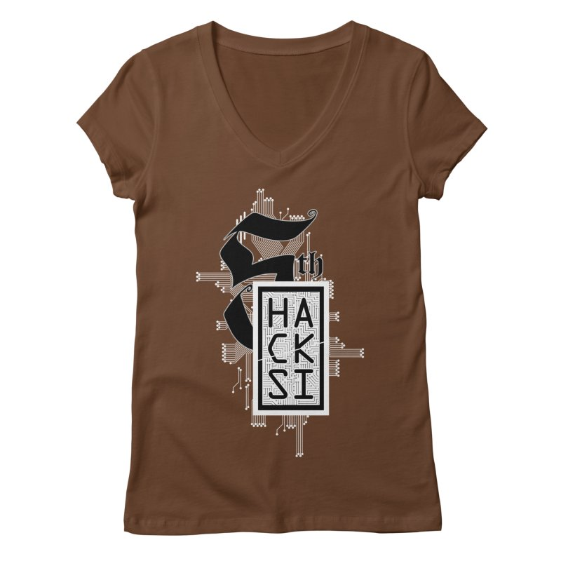 Light 2017 Logo Women's Regular V-Neck by The HackSI Shop
