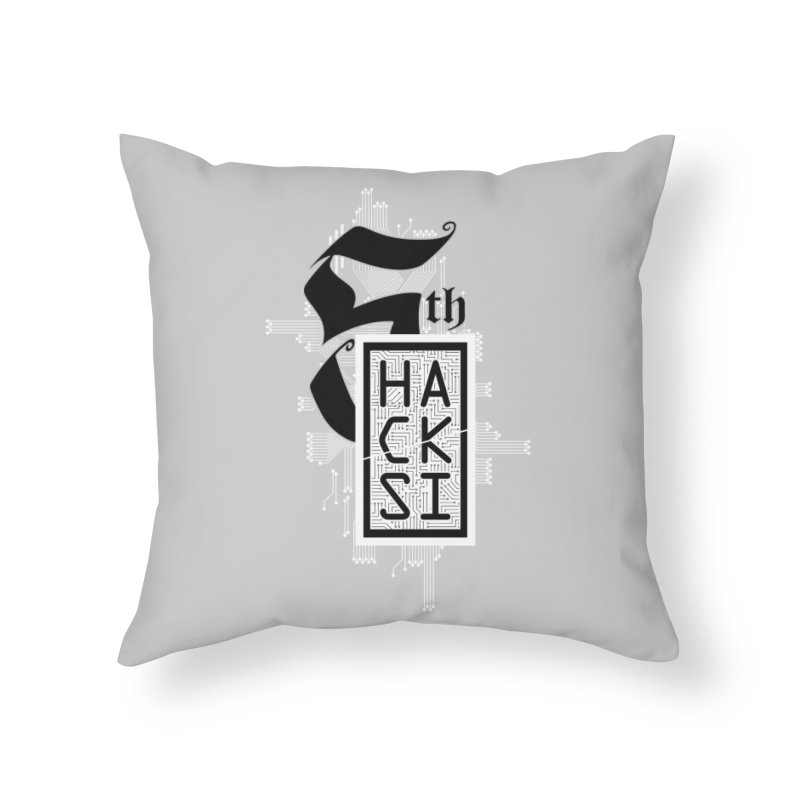 Light 2017 Logo Home Throw Pillow by The HackSI Shop