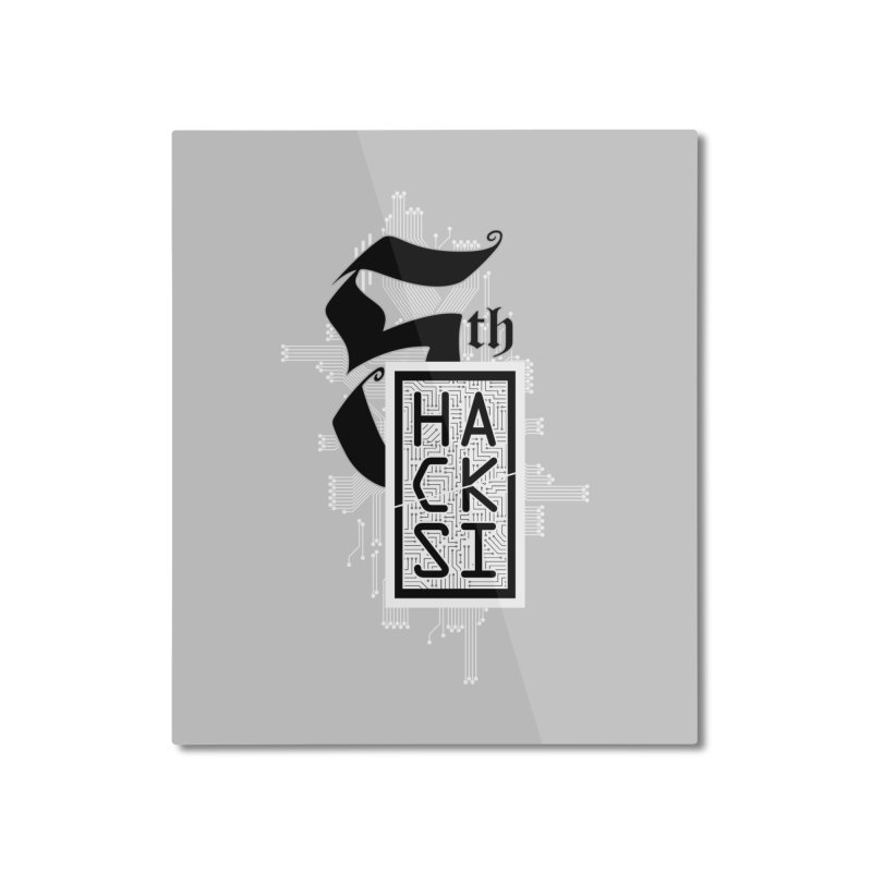 Light 2017 Logo Home Mounted Aluminum Print by The HackSI Shop