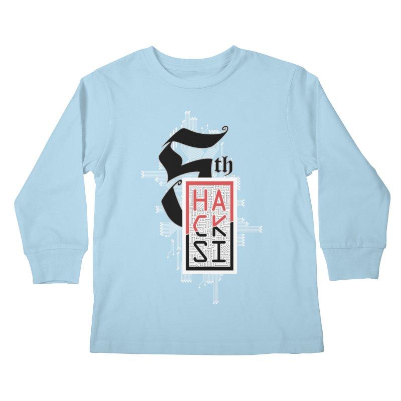 Light Color 2017 Logo Kids Longsleeve T-Shirt by The HackSI Shop
