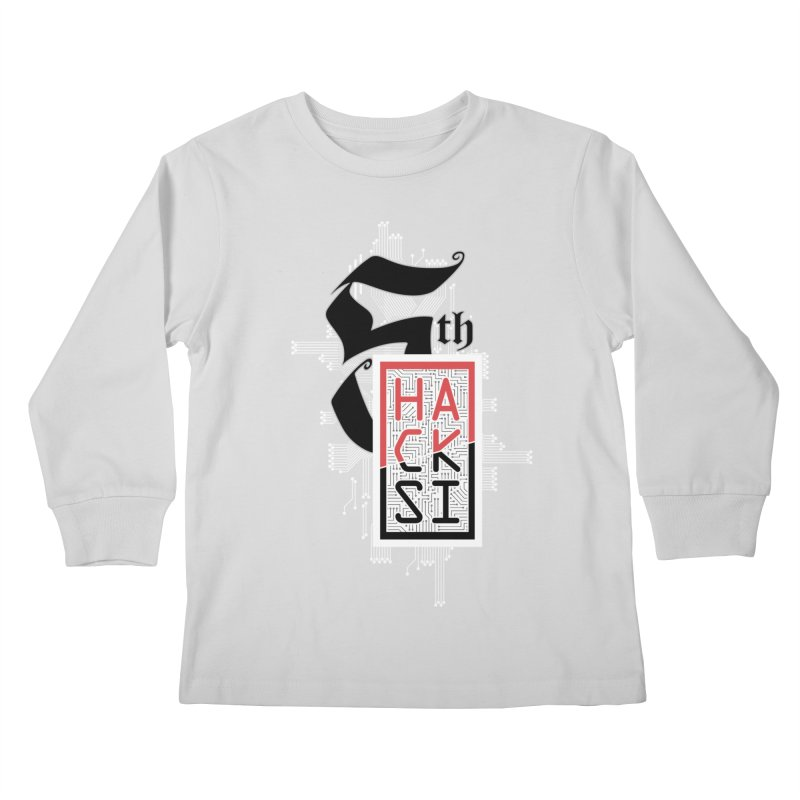 Light Color 2017 Logo Kids Longsleeve T-Shirt by The HackSI Shop