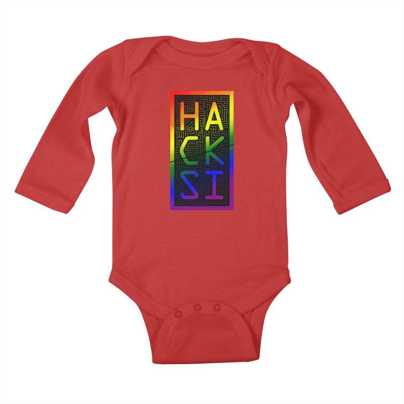 HackSI Pride Kids Baby Longsleeve Bodysuit by The HackSI Shop