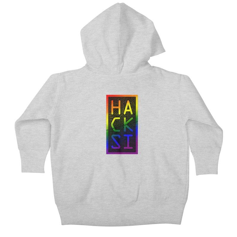 HackSI Pride Kids Baby Zip-Up Hoody by The HackSI Shop
