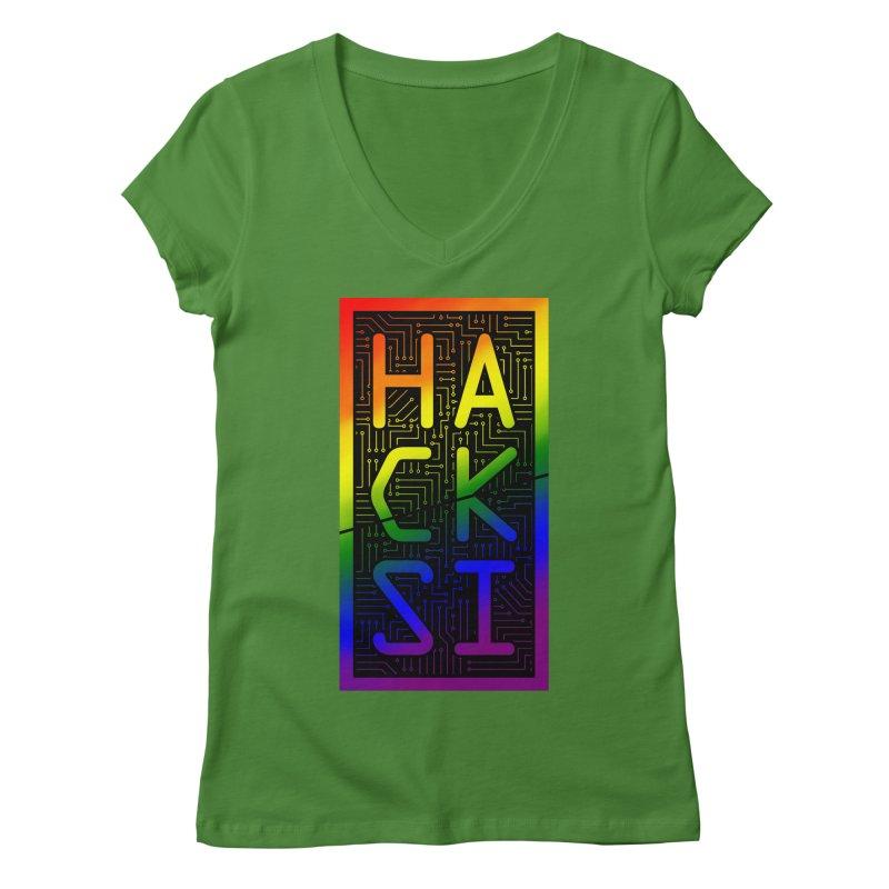 HackSI Pride Women's V-Neck by The HackSI Shop