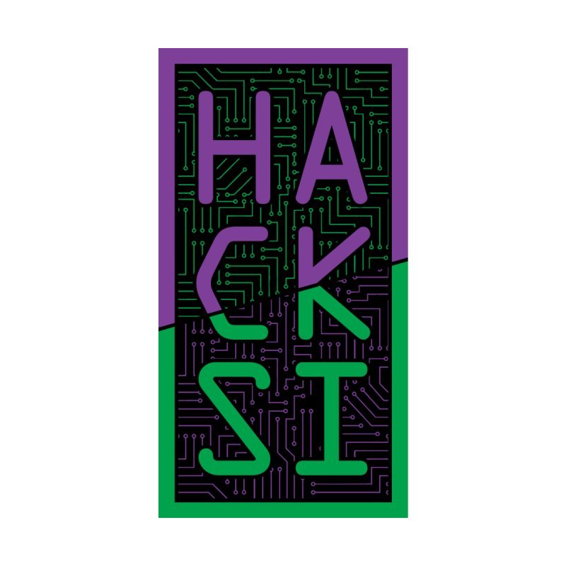 HackSI 2018 Logo Accessories Zip Pouch by The HackSI Shop