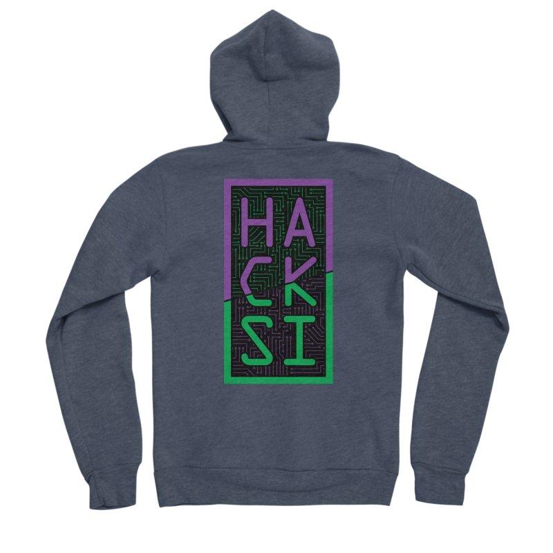 HackSI 2018 Logo Men's Sponge Fleece Zip-Up Hoody by The HackSI Shop