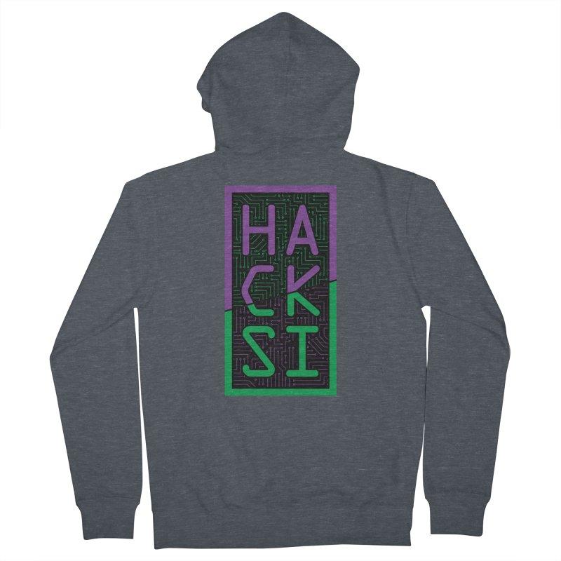 HackSI 2018 Logo Men's French Terry Zip-Up Hoody by The HackSI Shop