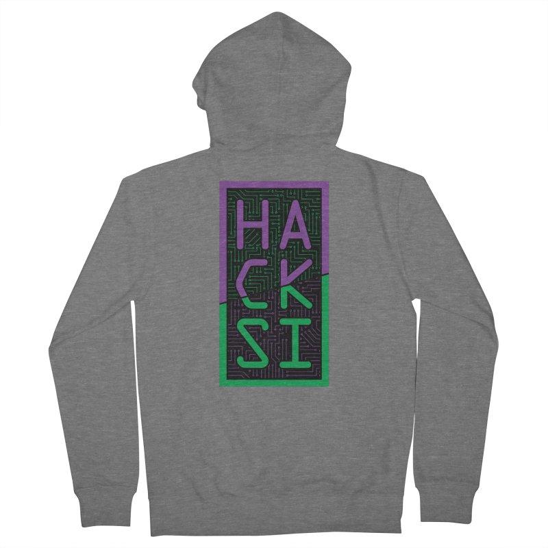 HackSI 2018 Logo Men's Zip-Up Hoody by The HackSI Shop