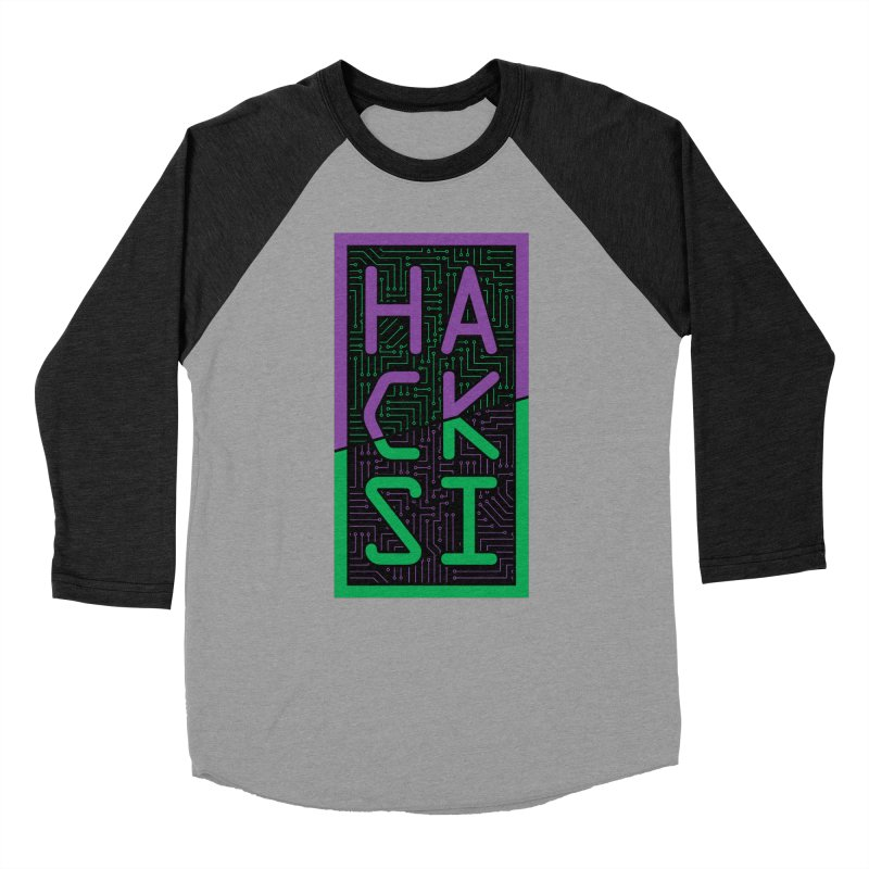 HackSI 2018 Logo Men's Baseball Triblend Longsleeve T-Shirt by The HackSI Shop