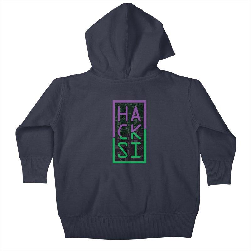 HackSI 2018 Logo Kids Baby Zip-Up Hoody by The HackSI Shop
