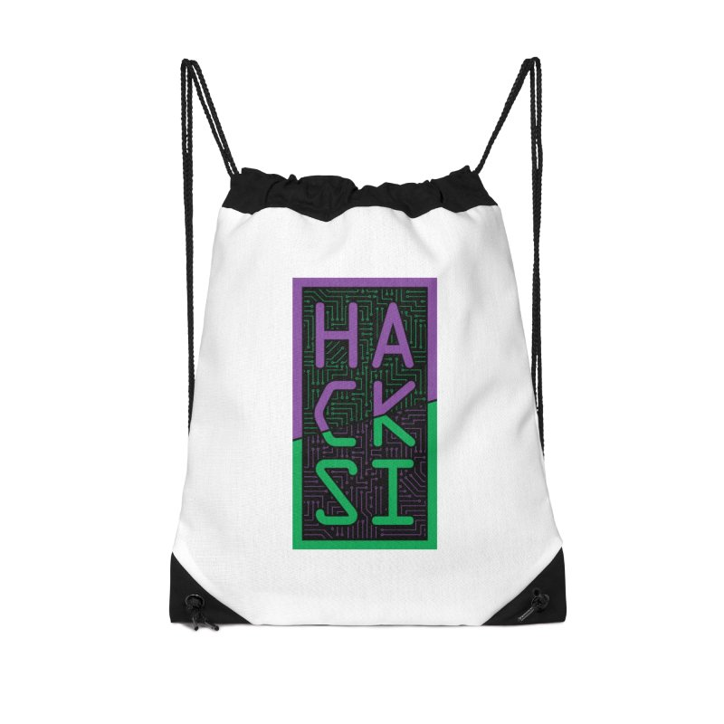 HackSI 2018 Logo Accessories Drawstring Bag Bag by The HackSI Shop
