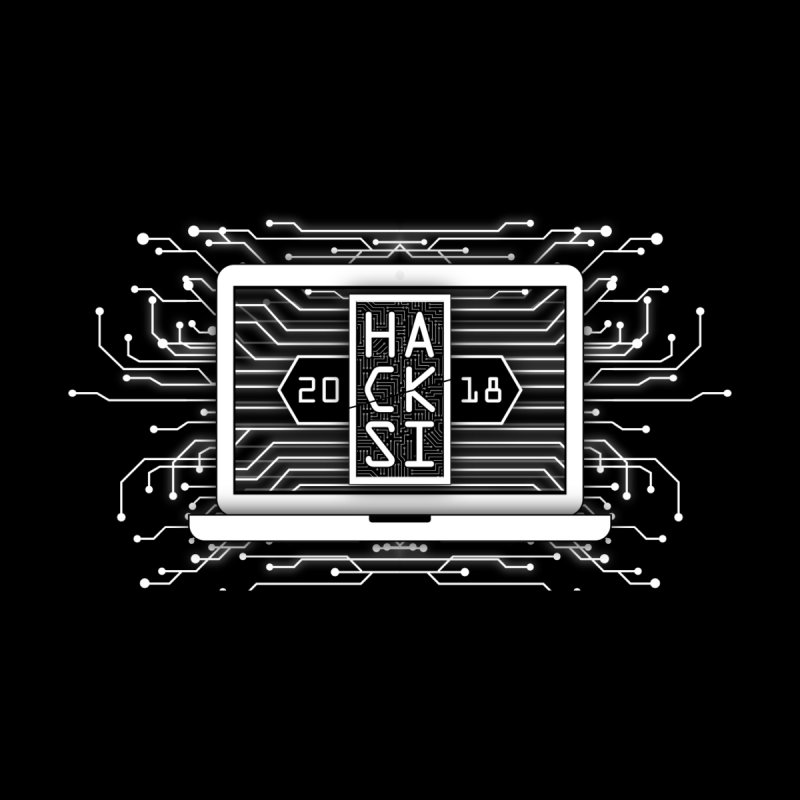 HackSI 2018 Laptop - White Men's T-Shirt by The HackSI Shop