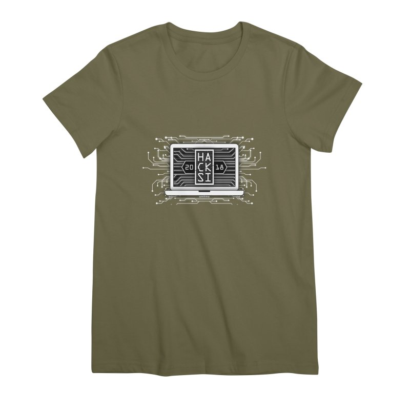 HackSI 2018 Laptop - White Women's Premium T-Shirt by The HackSI Shop