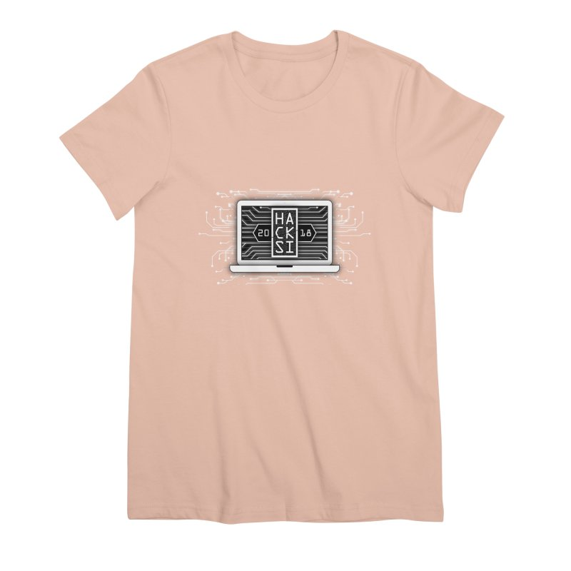 HackSI 2018 Laptop - White Women's Premium T-Shirt by The HackSI Shop