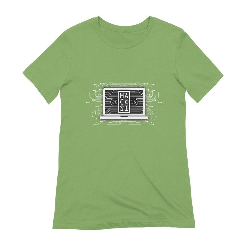 HackSI 2018 Laptop - White Women's Extra Soft T-Shirt by The HackSI Shop