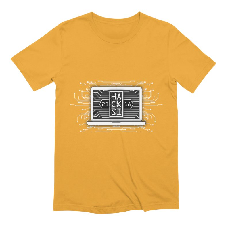 HackSI 2018 Laptop - White Men's Extra Soft T-Shirt by The HackSI Shop