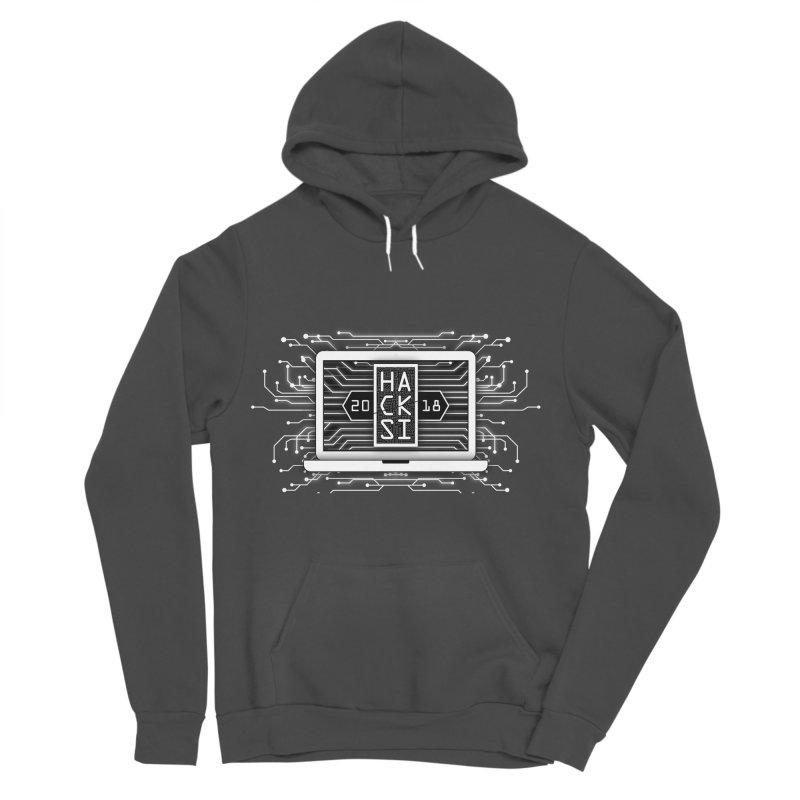 HackSI 2018 Laptop - White Men's Sponge Fleece Pullover Hoody by The HackSI Shop