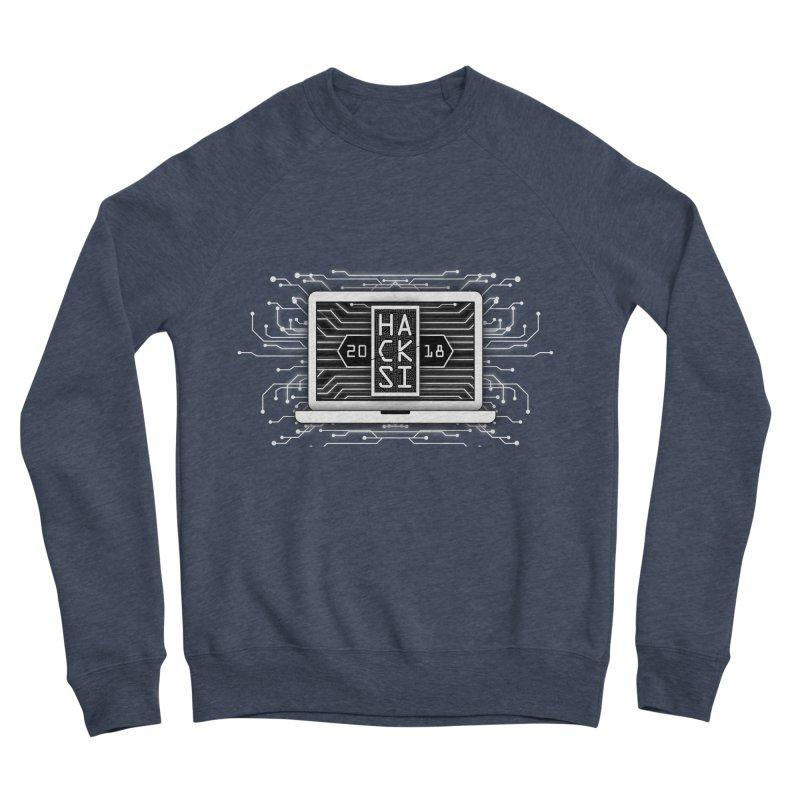 HackSI 2018 Laptop - White Men's Sponge Fleece Sweatshirt by The HackSI Shop