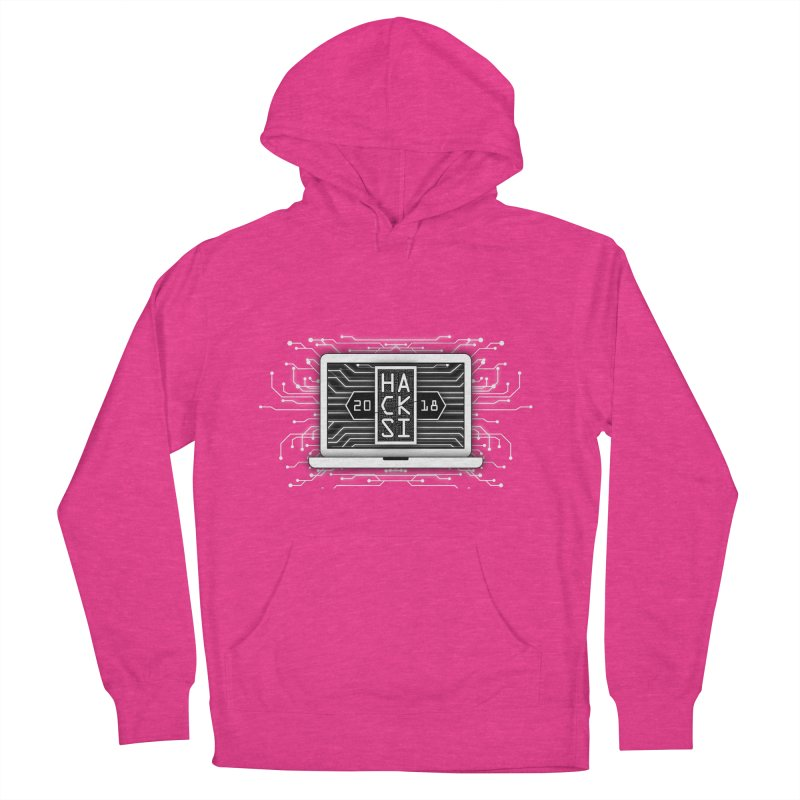 HackSI 2018 Laptop - White Women's French Terry Pullover Hoody by The HackSI Shop