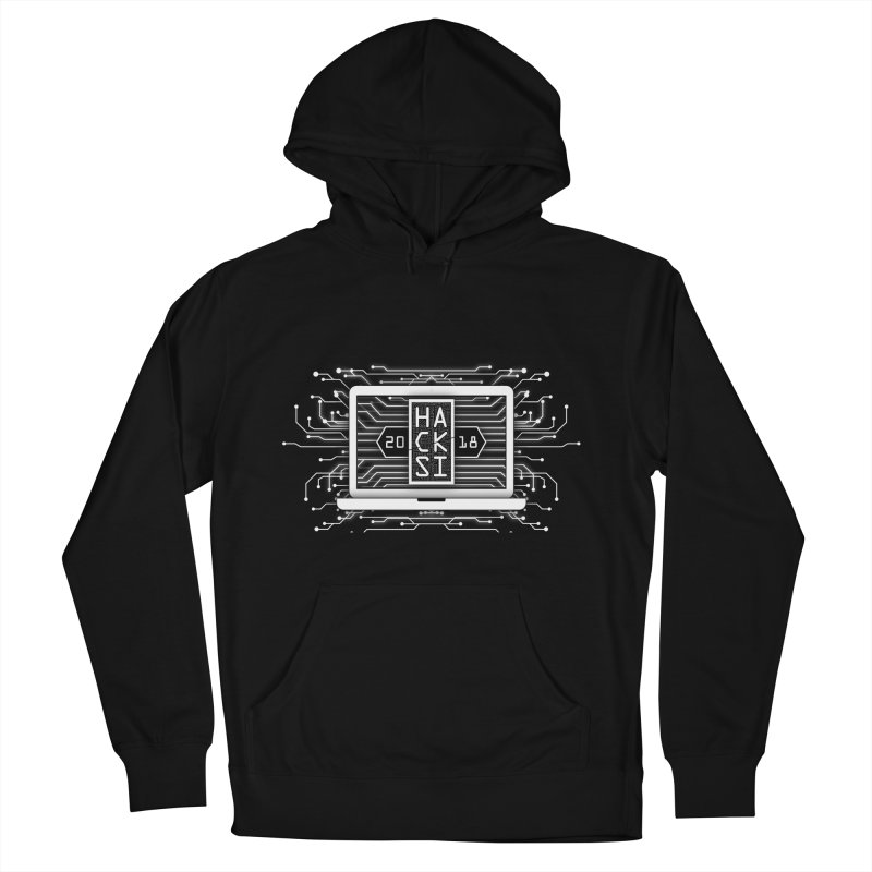 HackSI 2018 Laptop - White Men's French Terry Pullover Hoody by The HackSI Shop