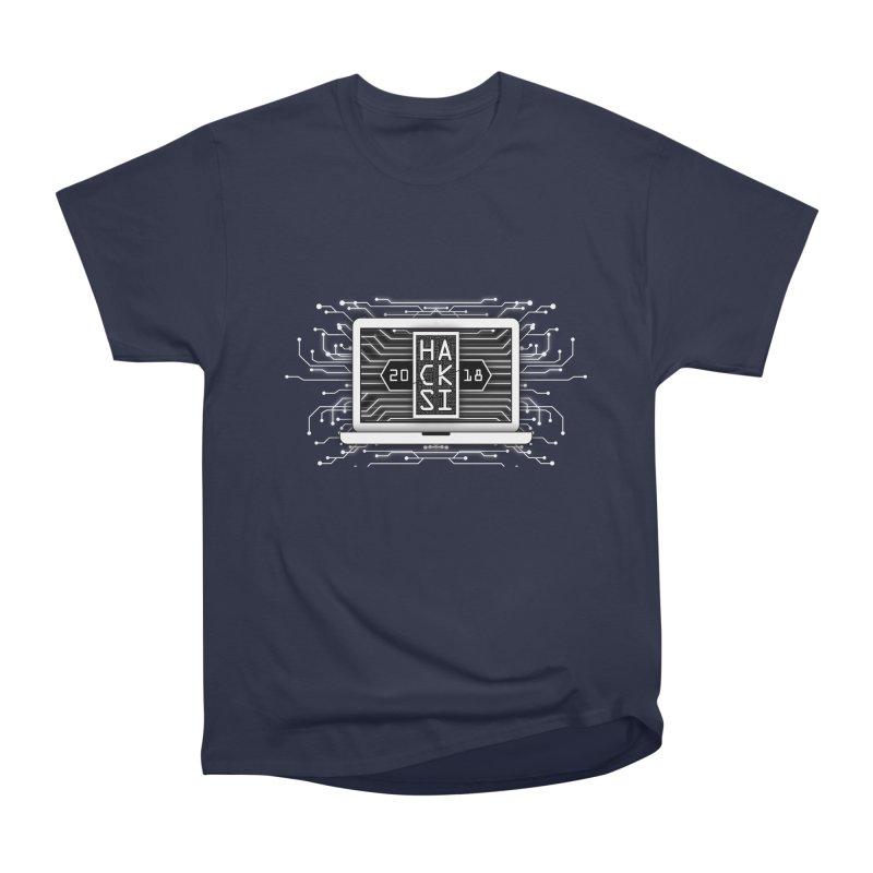 HackSI 2018 Laptop - White Women's Heavyweight Unisex T-Shirt by The HackSI Shop