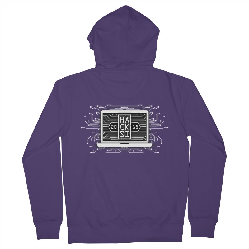 HackSI 2018 Laptop - White Women's French Terry Zip-Up Hoody by The HackSI Shop