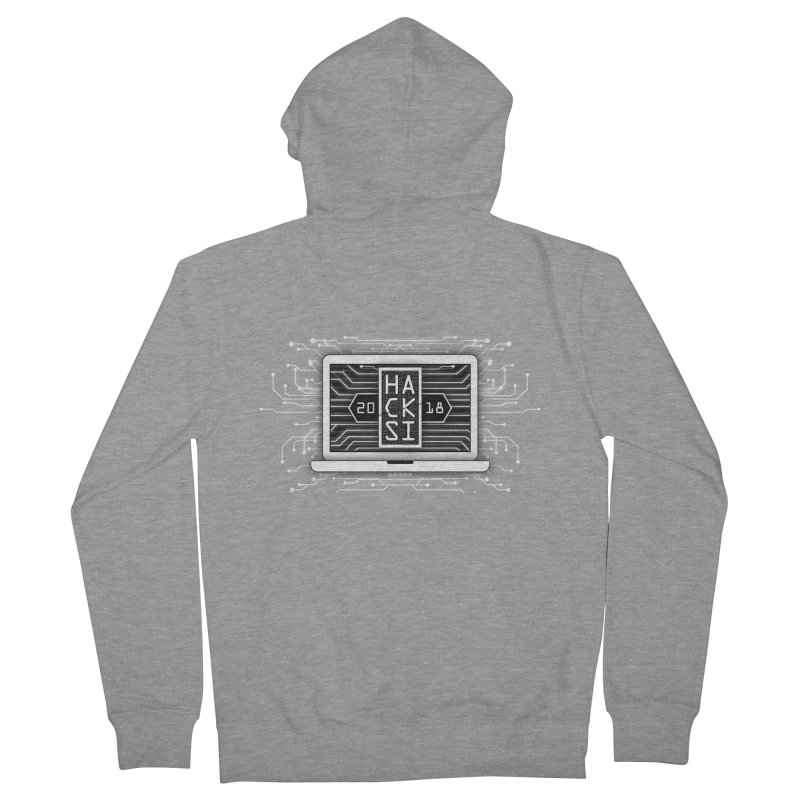 HackSI 2018 Laptop - White Men's French Terry Zip-Up Hoody by The HackSI Shop