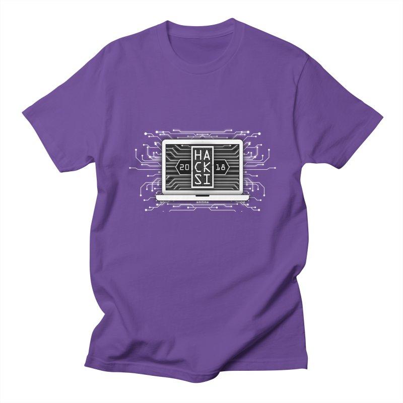 HackSI 2018 Laptop - White Men's T-Shirt by The HackSI Shop