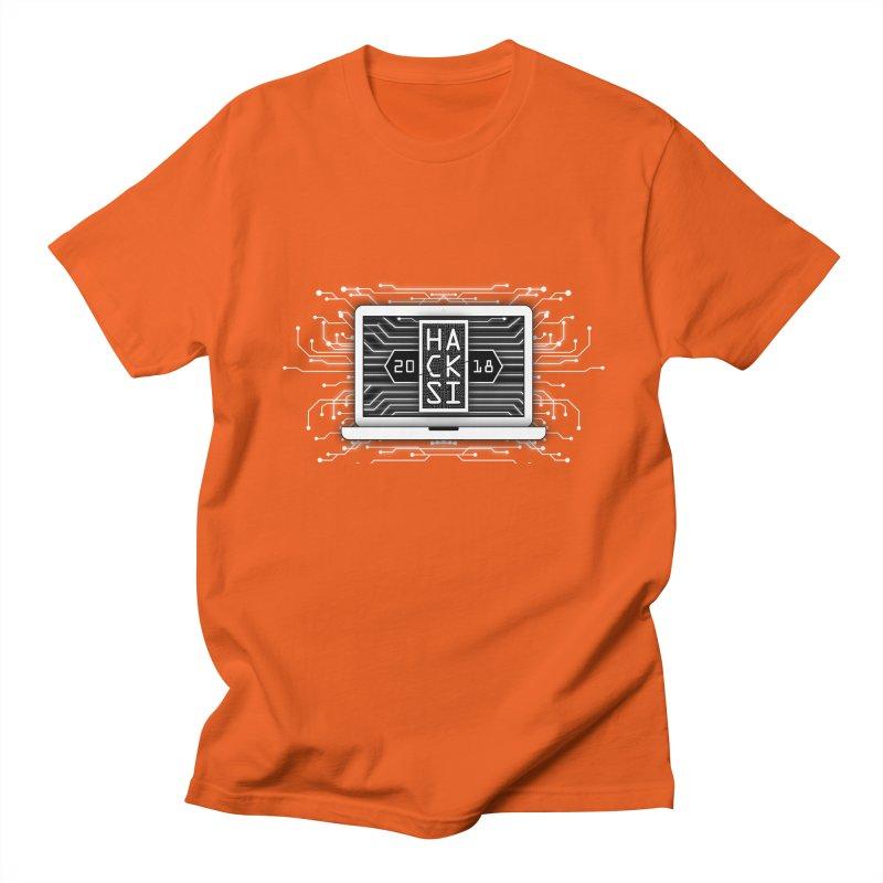 HackSI 2018 Laptop - White Men's Regular T-Shirt by The HackSI Shop