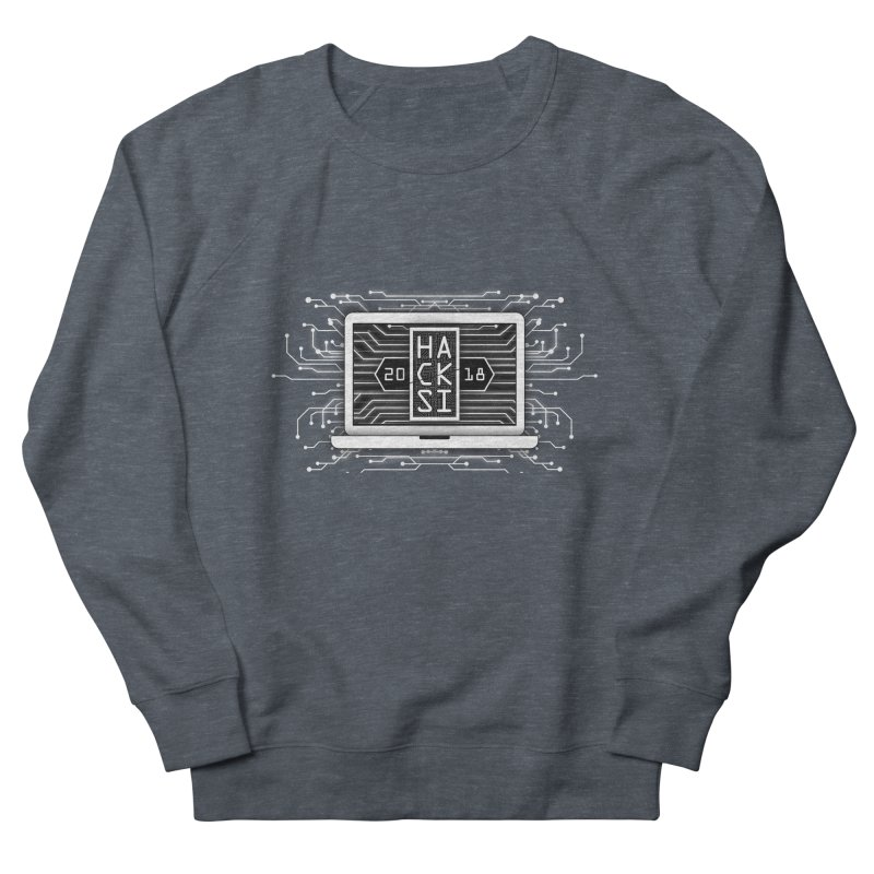 HackSI 2018 Laptop - White Men's French Terry Sweatshirt by The HackSI Shop