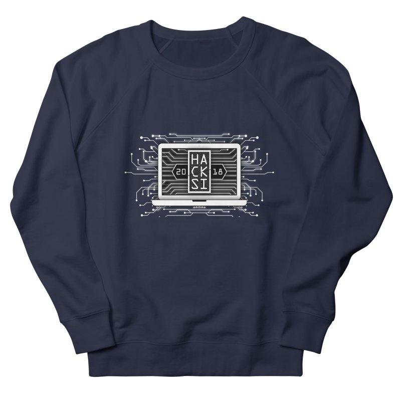 HackSI 2018 Laptop - White Men's French Terry Sweatshirt by The HackSI Shop