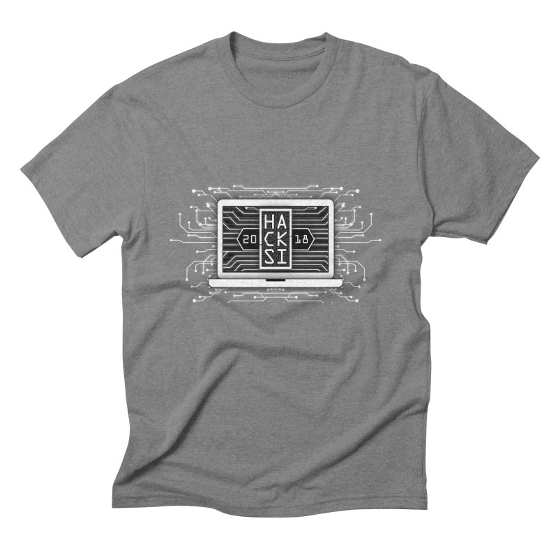 HackSI 2018 Laptop - White Men's Triblend T-Shirt by The HackSI Shop