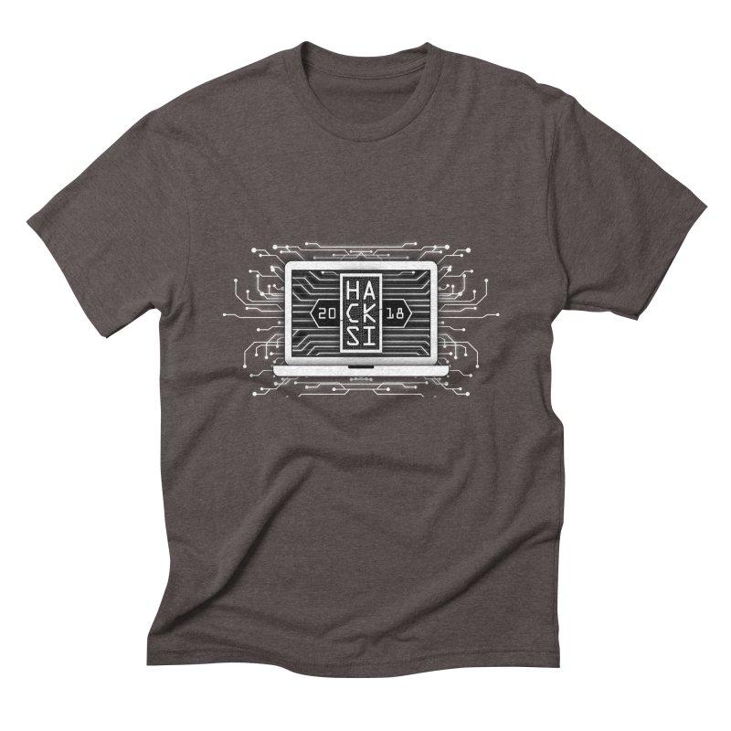 HackSI 2018 Laptop - White Men's Triblend T-Shirt by The HackSI Shop