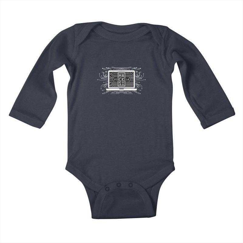 HackSI 2018 Laptop - White Kids Baby Longsleeve Bodysuit by The HackSI Shop