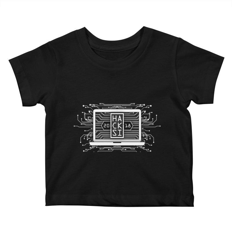 HackSI 2018 Laptop - White Kids Baby T-Shirt by The HackSI Shop