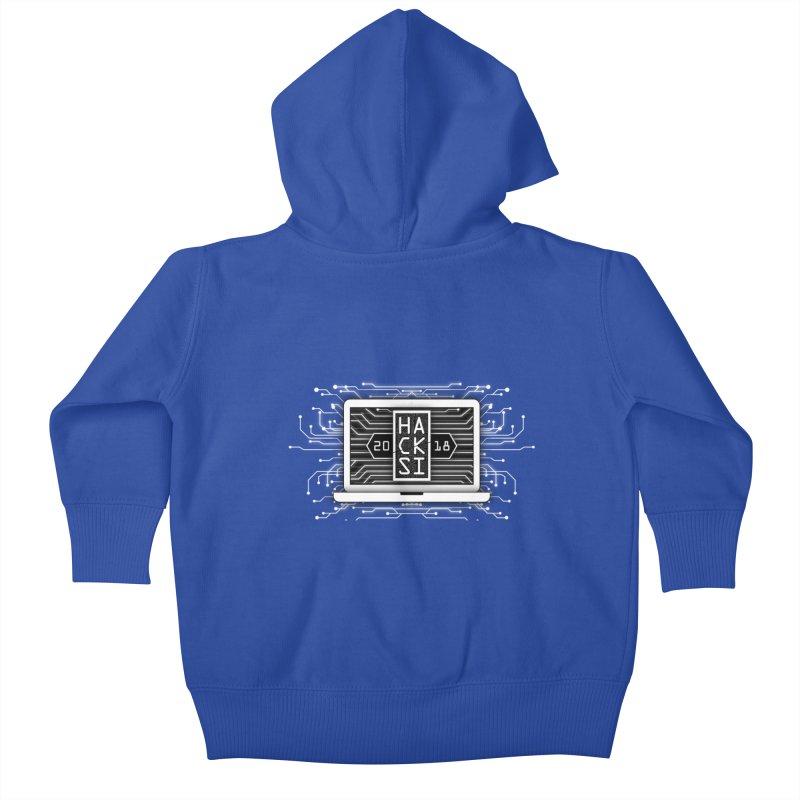HackSI 2018 Laptop - White Kids Baby Zip-Up Hoody by The HackSI Shop