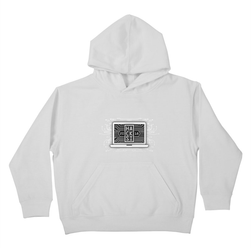 HackSI 2018 Laptop - White Kids Pullover Hoody by The HackSI Shop