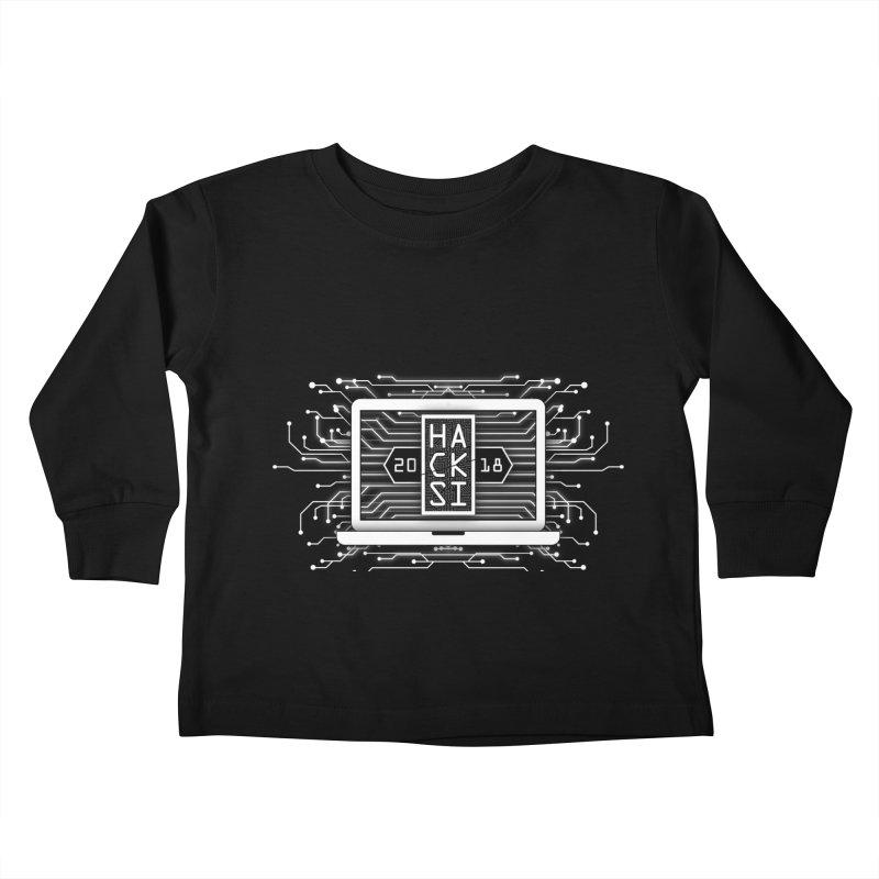 HackSI 2018 Laptop - White Kids Toddler Longsleeve T-Shirt by The HackSI Shop