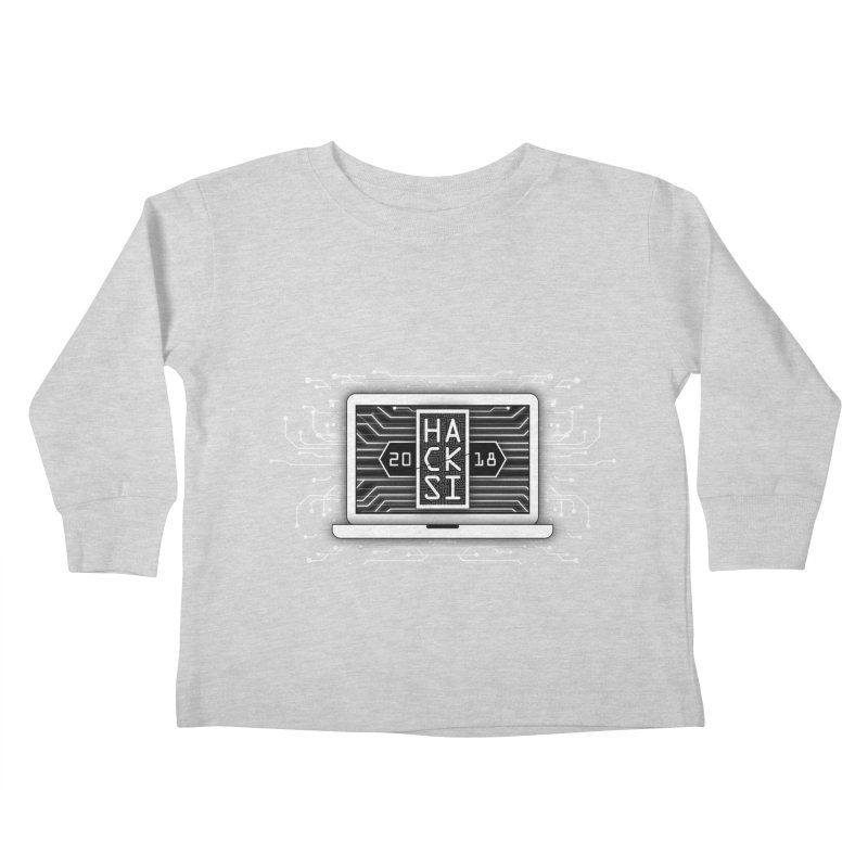 HackSI 2018 Laptop - White Kids Toddler Longsleeve T-Shirt by The HackSI Shop