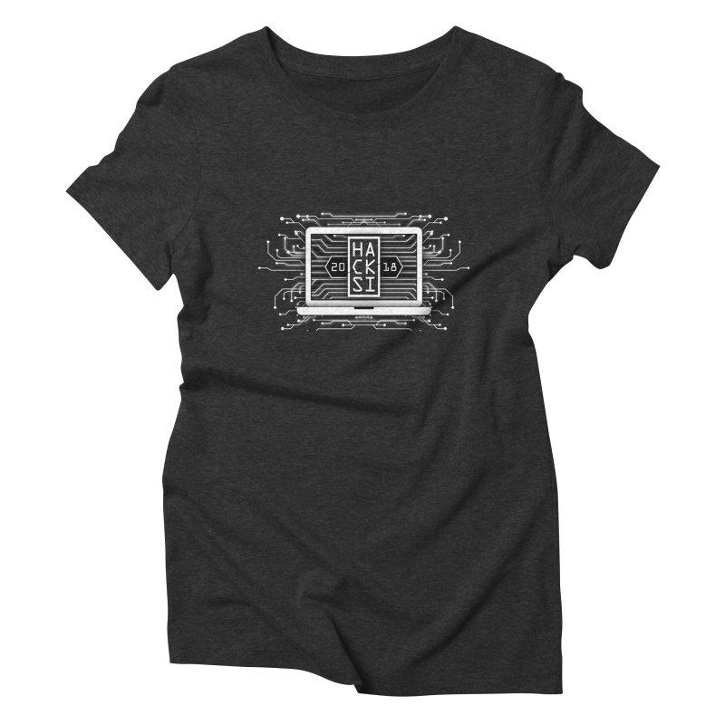 HackSI 2018 Laptop - White Women's Triblend T-Shirt by The HackSI Shop