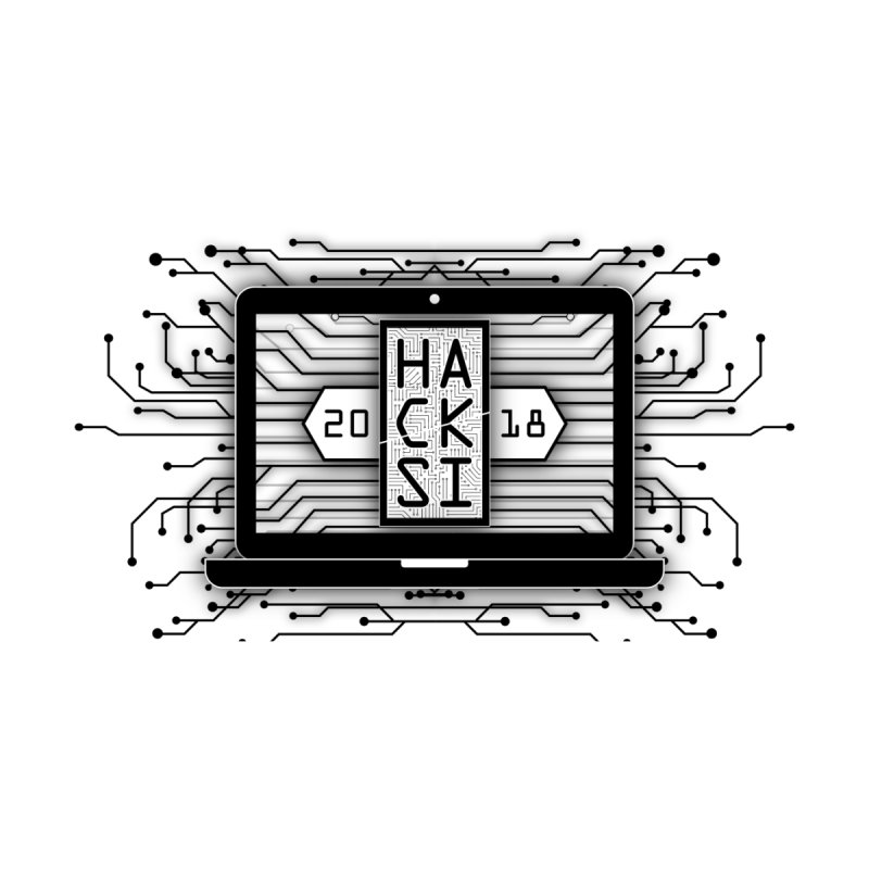 HackSI 2018 Laptop - Black Home Rug by The HackSI Shop