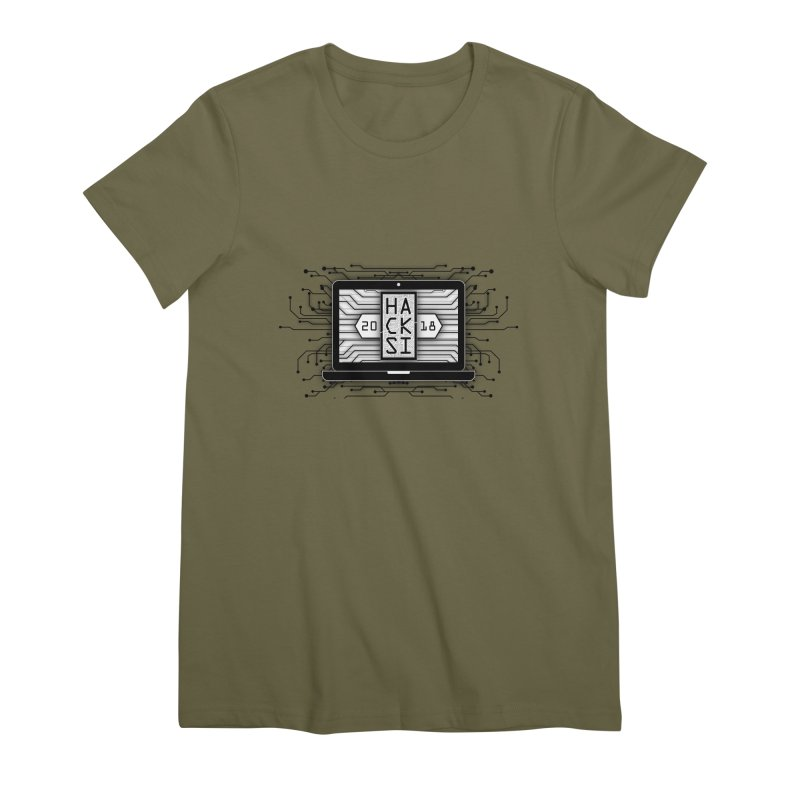 HackSI 2018 Laptop - Black Women's Premium T-Shirt by The HackSI Shop
