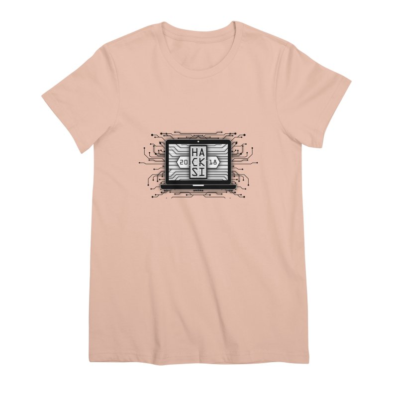 HackSI 2018 Laptop - Black Women's Premium T-Shirt by The HackSI Shop