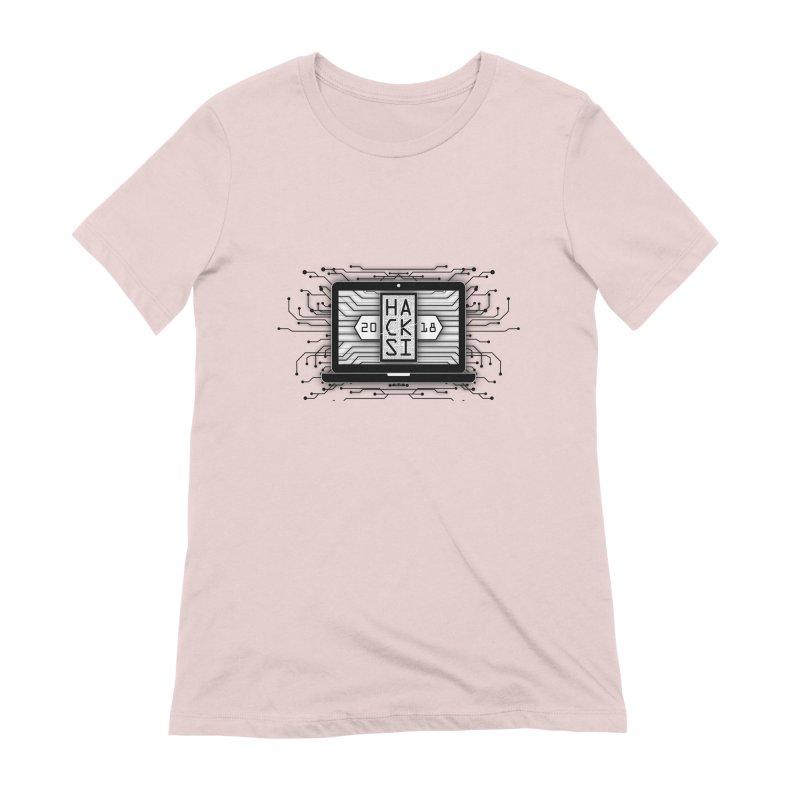 HackSI 2018 Laptop - Black Women's Extra Soft T-Shirt by The HackSI Shop