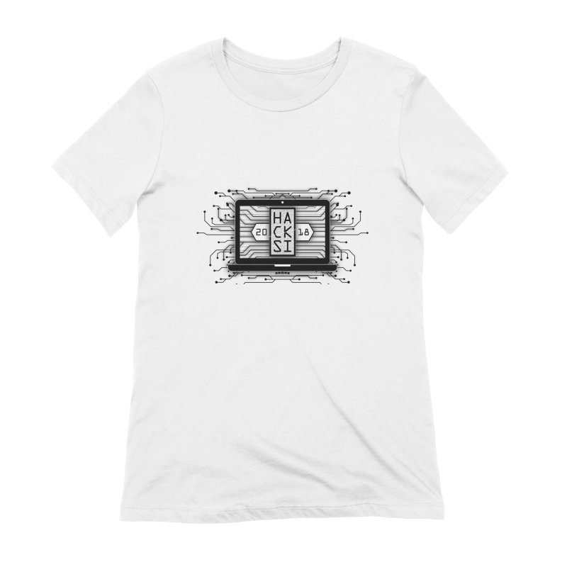 HackSI 2018 Laptop - Black Women's Extra Soft T-Shirt by The HackSI Shop